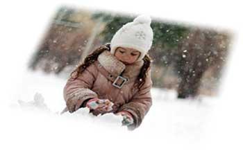зима и дети